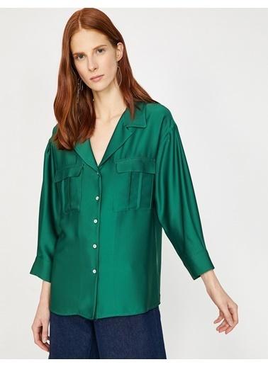 Koton Cep Detaylı Gömlek Yeşil